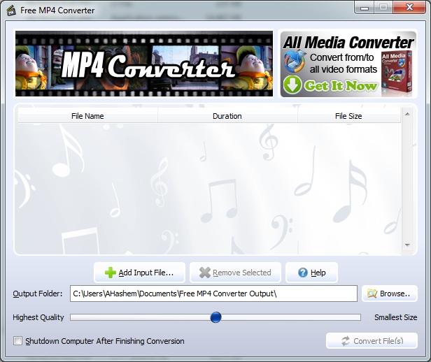 برنامج تحويل الفيديو الى MP4 اخر اصدار MP4 Video Converter