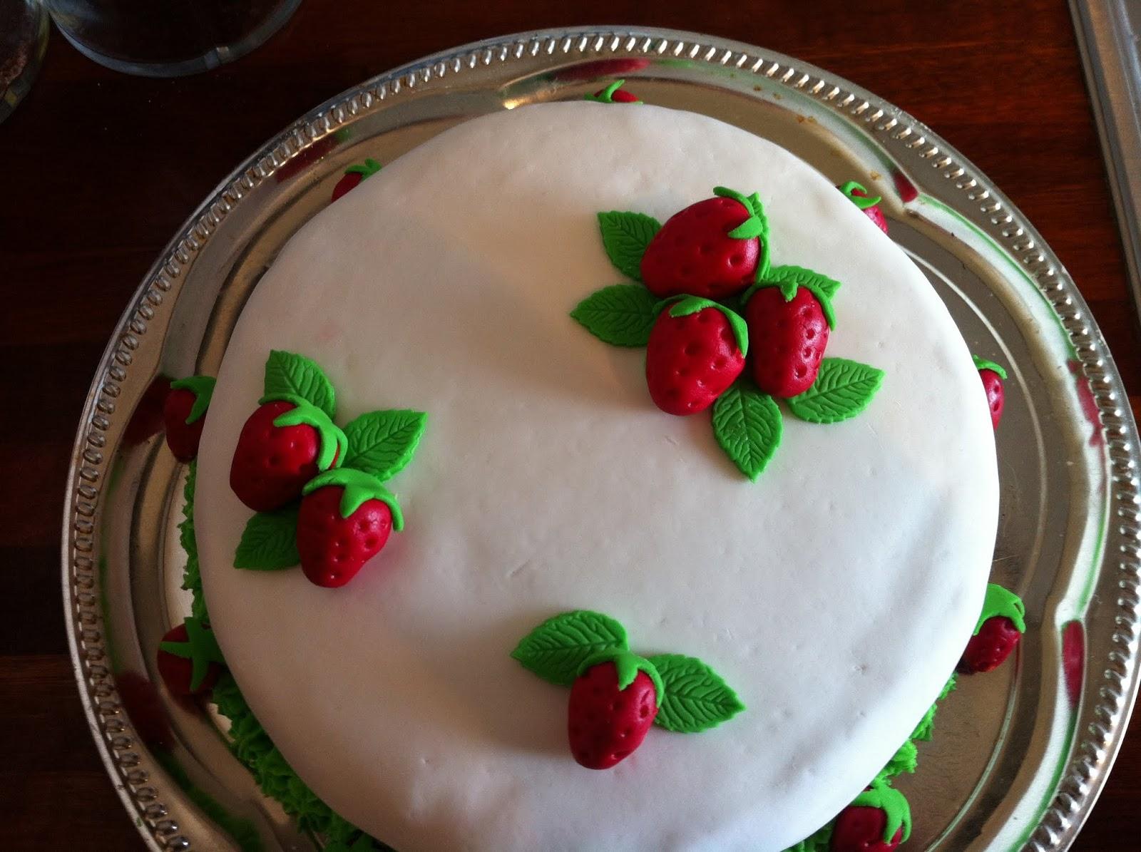 Kage til svigermors fødselsdag
