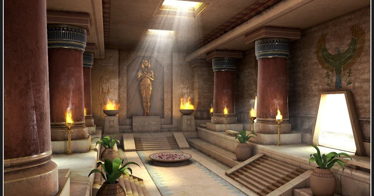 shibasis dutta  cg works   egyptian palace  interior