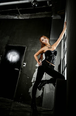 Cha Jung Ah Flawless Beauty in Black