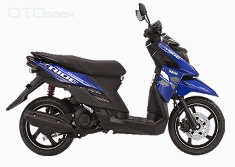 gambar motor yamaha x ride biru