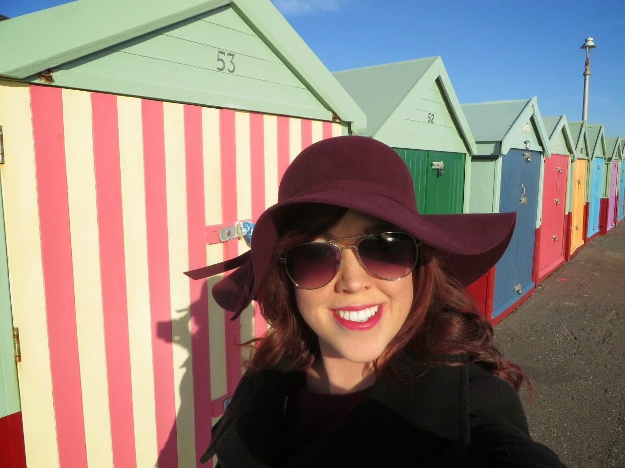 Erins Ever After, Erin's Ever After, Erinseverafter, Brighton, Beach huts, sun, floppy hat
