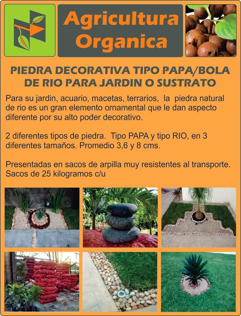 Piedra decorativa tipo papa bola de rio para jardin - Piedra decorativa jardin ...