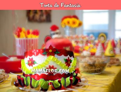 Torta de Fantasía (o Pastel Falso) para Centro de Mesa de Fiesta Infantil