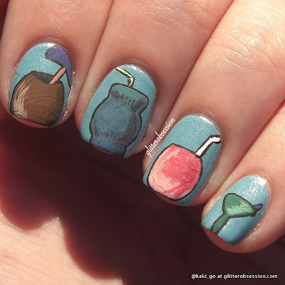 glitterobsession: Tropical Drinks Nail Art