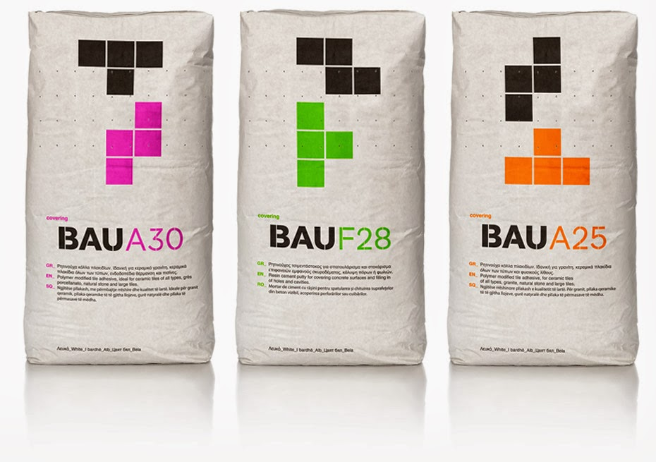 Bau building materials on packaging of the world for House material packages