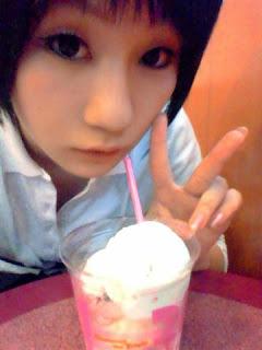 Koyuki cosplay as Konno Makoto from Toki o Kakeru Shoujo
