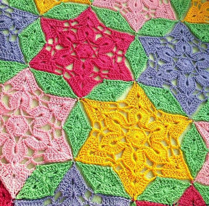 Tejidos artesanales en crochet como tejer un motivo de - Puntas de ganchillo ...