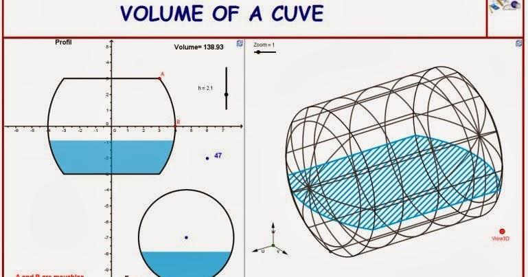 Volume of a 3D cuve