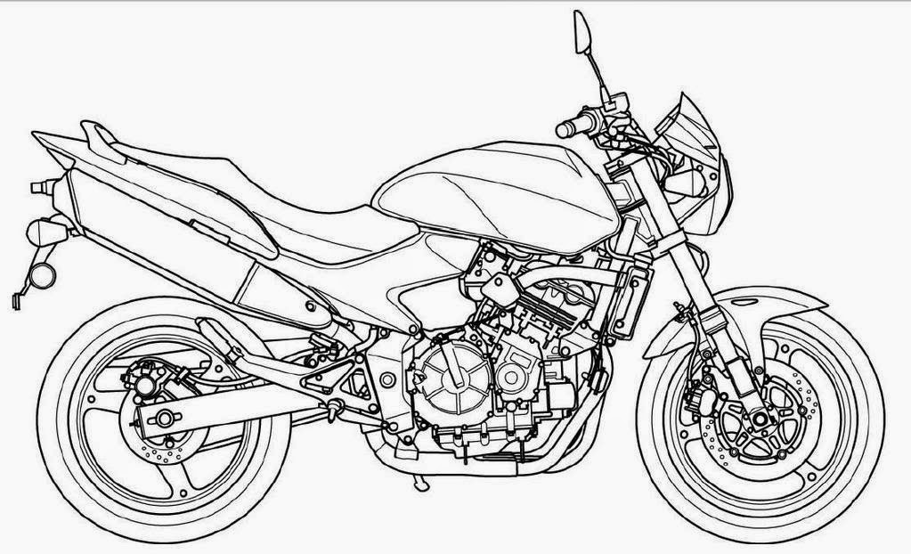 Motorcycle Coloring Drawing Free wallpaper