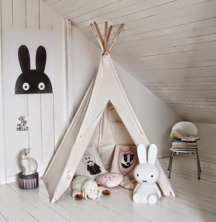 icono interiorismo tendencia un tipi en la habitaci n infantil. Black Bedroom Furniture Sets. Home Design Ideas