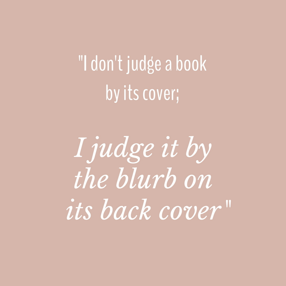 You can't judge a book by its cover short essay