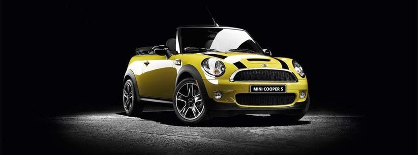 Image de couverture facebook mini cooper jaune
