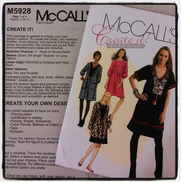 Ivy Arch: Create It! McCall\'s M5928 Mix & Match Dress