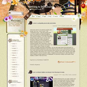 Driving to the County Blogger Template. free download template blogspot