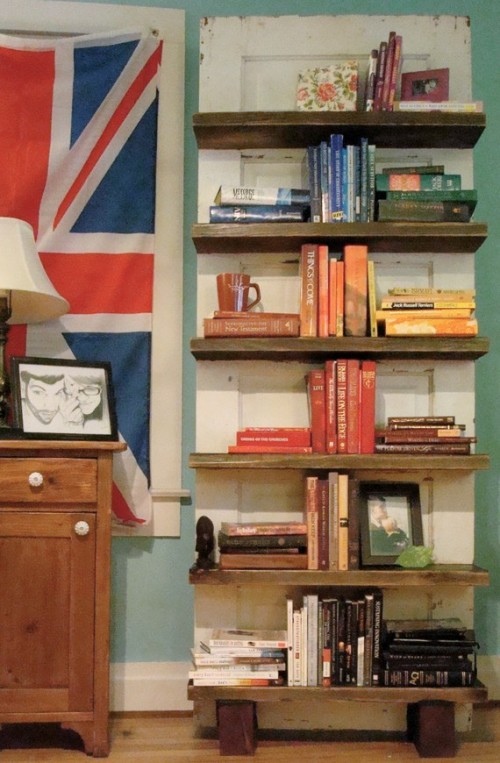 Shelves Made From Old Doors