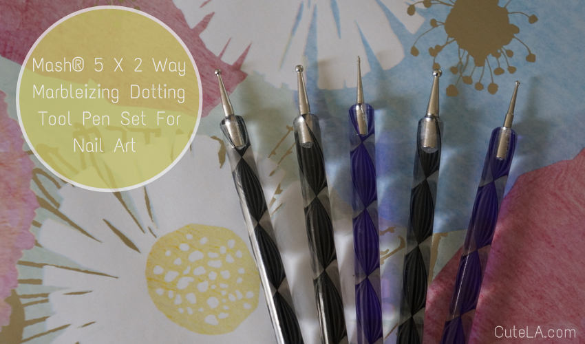 Cult Cosmetics Dotting Tool Pen Set for Nail Art via Cute LA