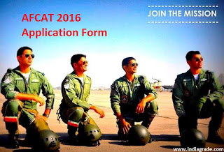AFCAT 2016 Application Form
