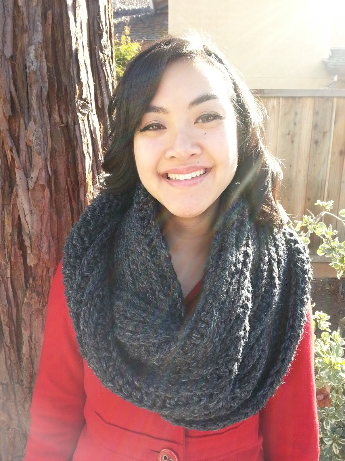 Crochet from J: Chunky Ribbed Infinity Scarf Pattern