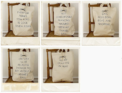 printed canvas bags by Maude and Tilda