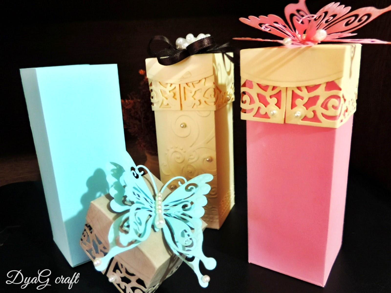 cutie marturie -cutii nunta-fluturi handmade
