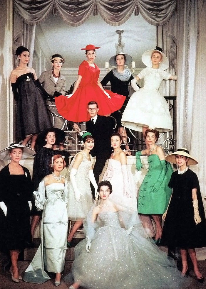 Yves Saint Laurent at Dior in 1958