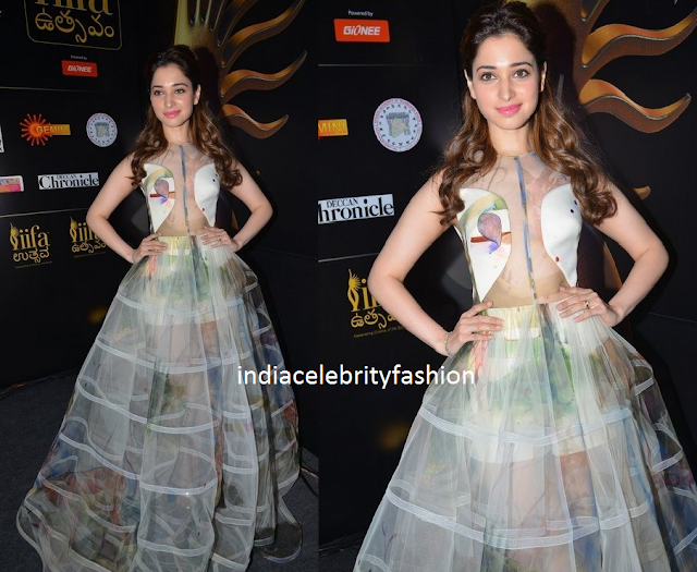 Tamannah bhatia in Gauri and Nainika Gown