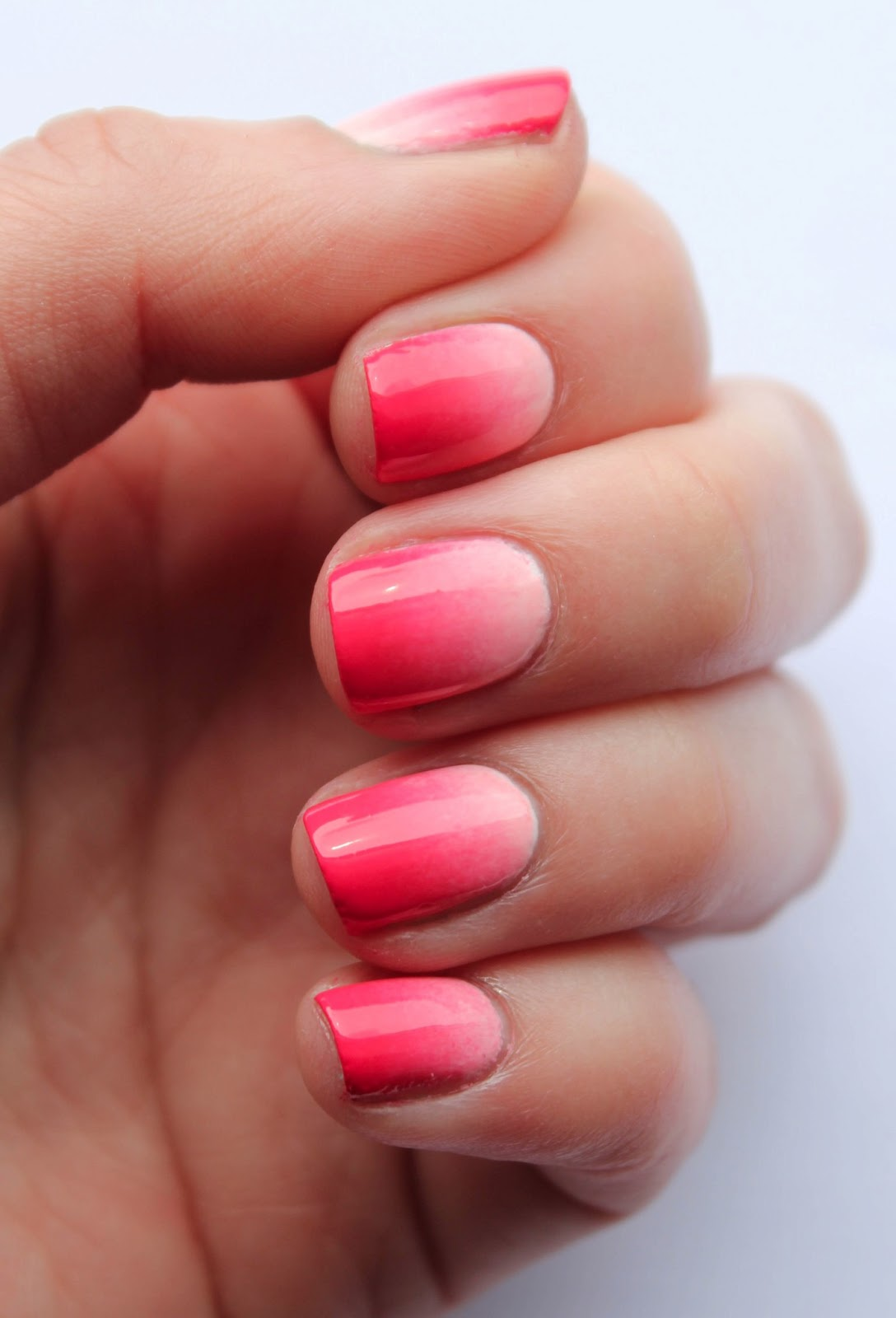 Fundamentally flawless tutorial coral gradient nails for Nageldesign ombre