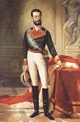 Retrato de Amadeo I por el artista español Antonio Gisbert