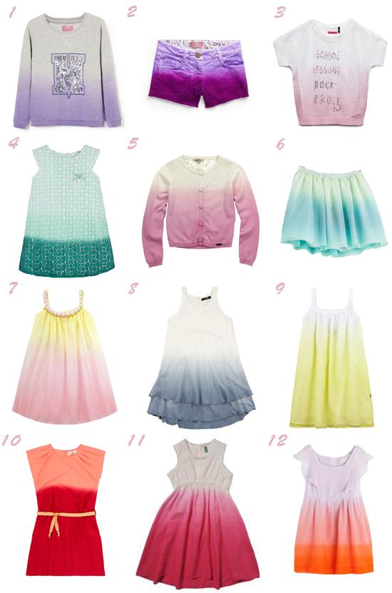 Especial tendencias primavera verano 2014 moda niña degradados