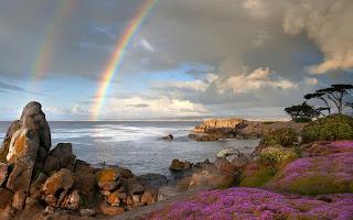 El arco iris en el mar