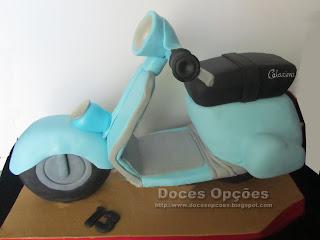 vespa scooter birthday cake