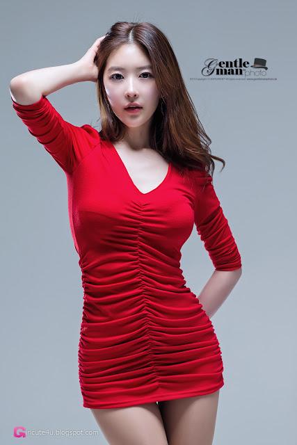 5 Hot Red - Kim Yoo Yeon - very cute asian girl - girlcute4u.blogspot.com