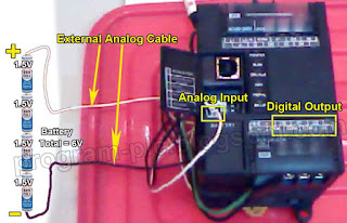 Battery to Analog Input PLC