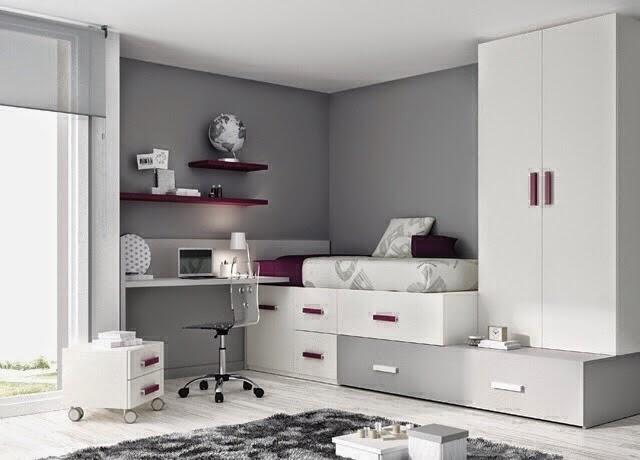 habitacion con cama tipo cubo