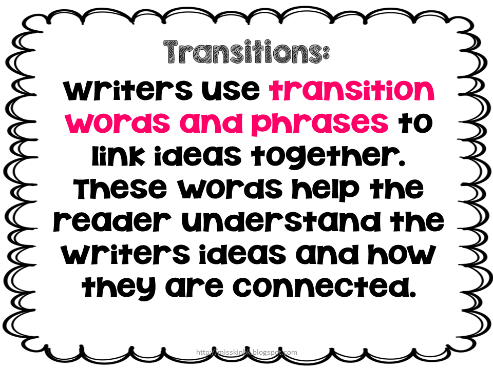 transition words lessons teach misskinbk a fifth grade blog using transitions in writing bie 2 transition words