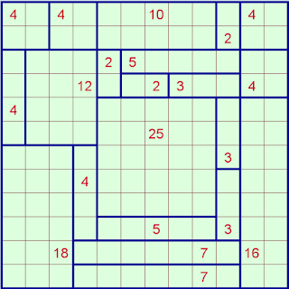 Sikaku or Rectangles Puzzle Solution