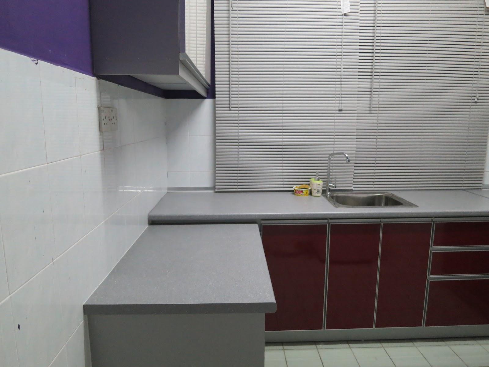 Sinki 1 bowl sebab kalau 2 bowl tak boleh suit dengan corner. Tu laa