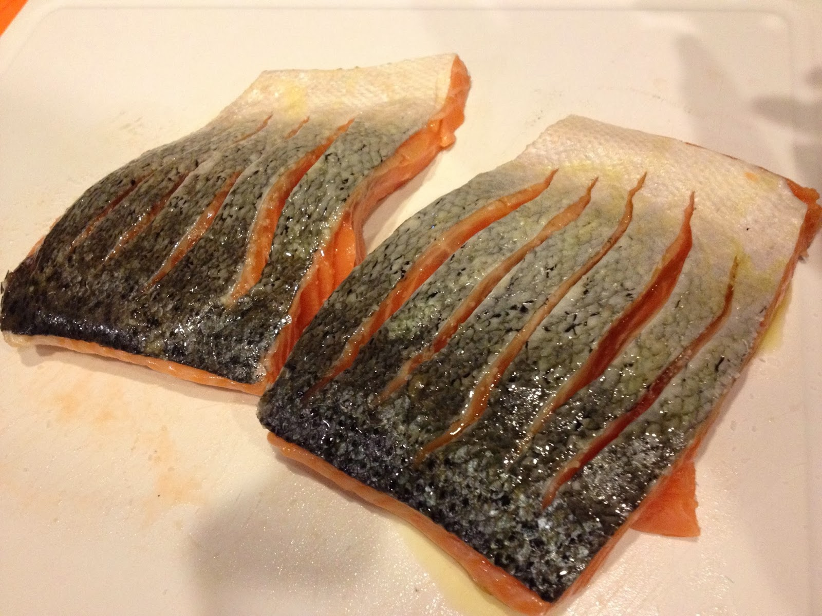 Don't Worry If You Accidentally Cut Through The Full Depth Of The Salmon  When Making These Slices