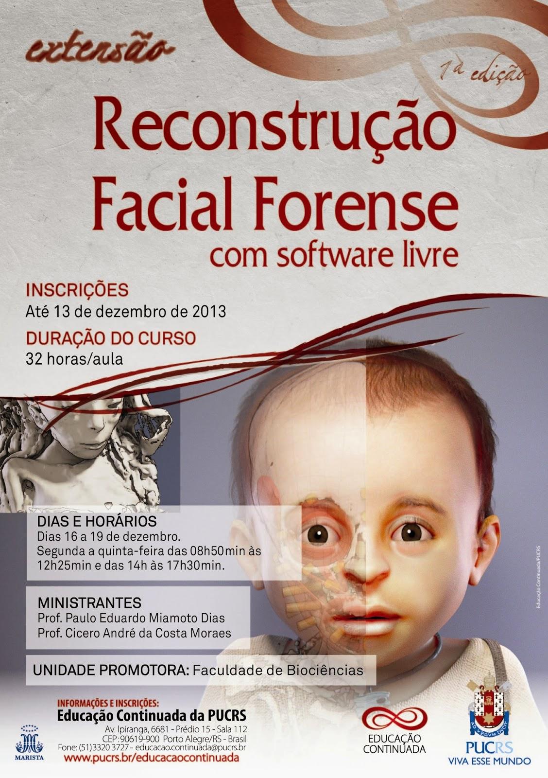 Curso de reconstrução facial na PUCRS