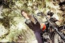 Produção com as Motos Triumph e Naiara