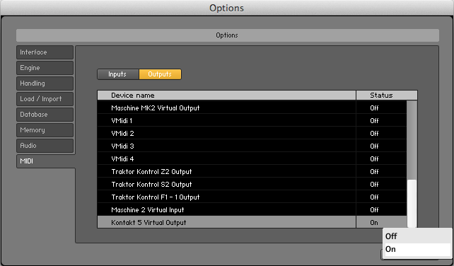 Mengatur Output pada Software Kontakt 5