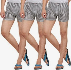 Flat 45% Off on Value Pack Combo of Men's Boxers, Pack of 3 Boxers just for Rs.299 Only @ Flipkart
