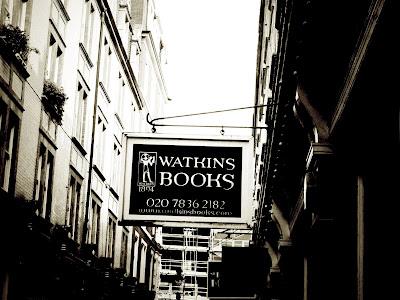 books, bookshop, Cecil Court, London, vintage, Watkins