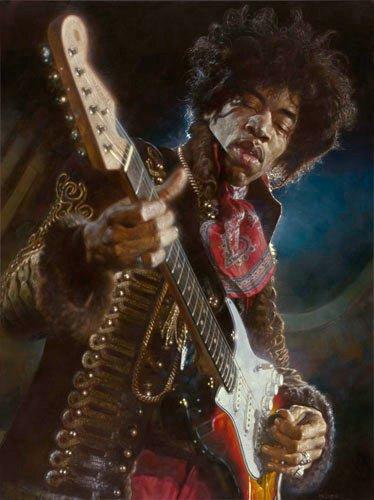 Jimi Hendrix - New Pop Realism - Sebastian Krüger 1963