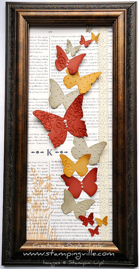 Gift for Mom: Handmade Framed Butterfly Wall Decor | Stampingville