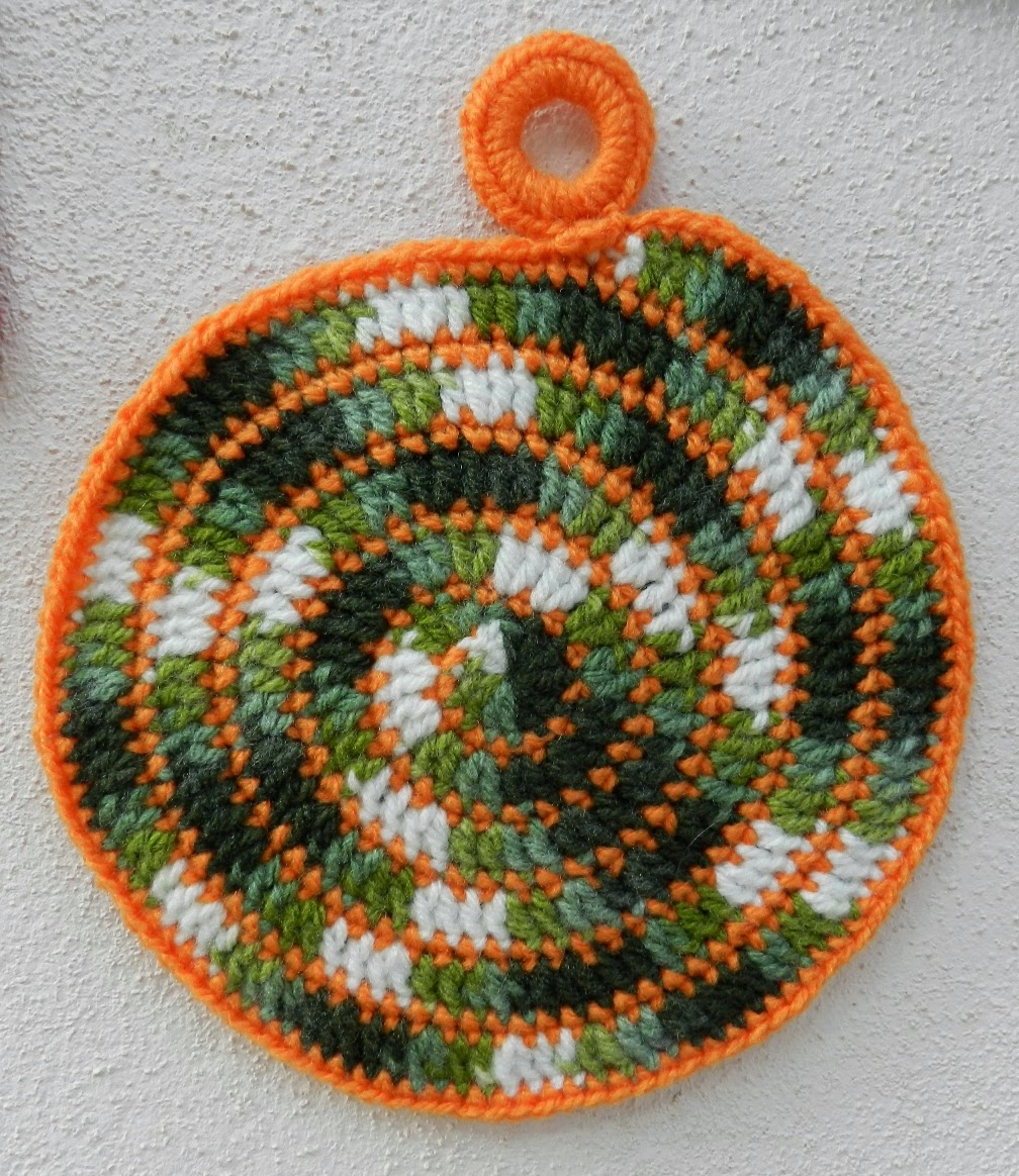 Moderno Crochet Patrón Scrubbies Espirales Festooning - Ideas de ...