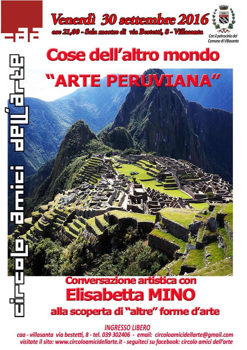 "Conferenza ""L'arte peruviana"""