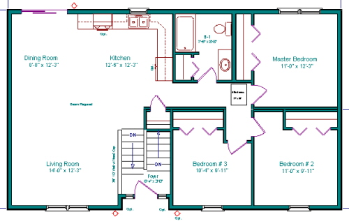Garage Apartment Plans 2 Bedroom 2 Bath