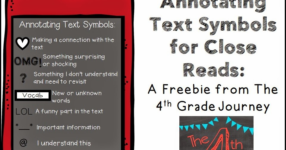 The 4th Grade Journey Friday Freebie For Annotating Text